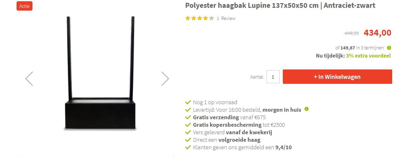 Betaal nu je bestelling in 3 termijnen bij Kantenklaarhagen.nl