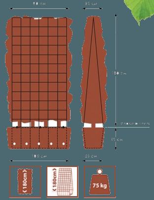 Maatvoering QuickHegde met raster