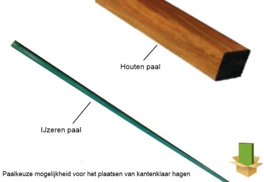 ijzeren paal of houten paal voor kant en klaar haag